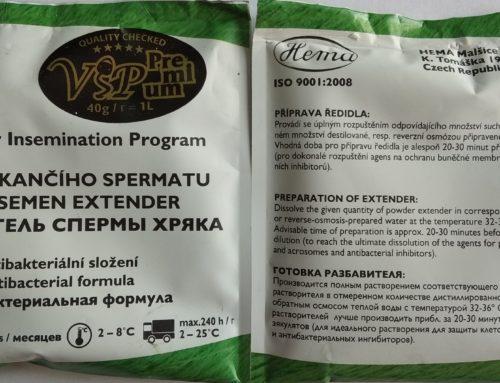 Трехкомпонентный разбавитель спермы хряка VIP5 Премиум 5-и и  VIP7 7-и дневный, Чешского производства